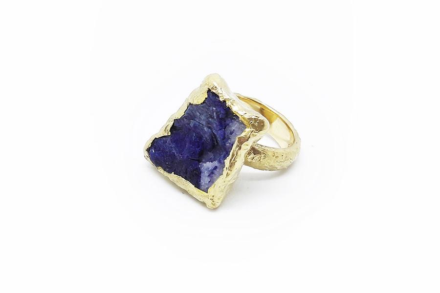 anello oro giallo violano Saint Marcel